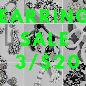Jewelry - 👀👉🏻Earring Sale - ANY EARRINGS 3/$20
